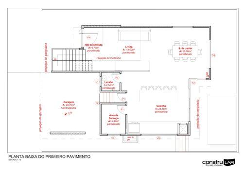 Casa das Laranjeiras - Planta 1